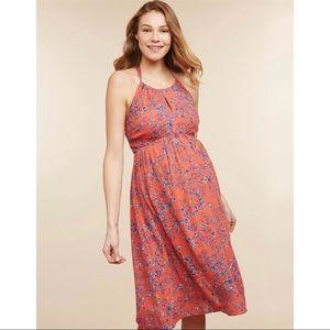 Jessica Simpson Maternity Coral Floral Sun Dress